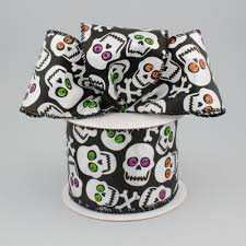 skull ribbon 2 5 skull ribbon 10 yards 92517w 001 40f