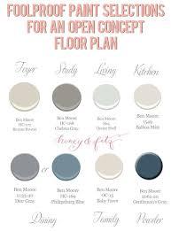 Ben Rose House Floor Plan Foolproof Paint Selections For An Open Concept Floor Plan Via