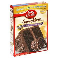 betty crocker supermoist cake mix triple chocolate fudge 18 4