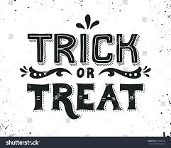 halloween greeting cards trick treat hand drawn halloween lettering stock vector 315206642