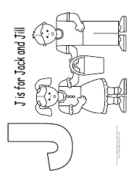 clip art jack and jill coloring page mycoloring free printable