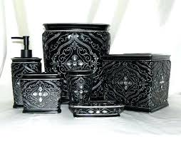 black and gray bathroom accessories medium size of blue and gold