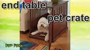 pet crate wood end table youtube