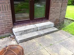 rear patio steps stewartfield before brickwork services singular
