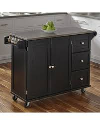 black kitchen island with stainless steel top hot memorial day bargains on andover mills kuhnhenn kitchen island
