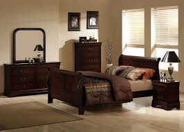 bedroom cool bedroom design with cream wall color and brown bed