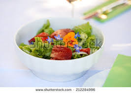 Salad With Edible Flowers - salad edible flowers stock images royalty free images u0026 vectors
