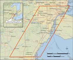 Adrian Michigan Map by Detroit River W Lake Erie Cwma Great Lakes Phragmites