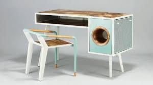 Retro Modern Desk Phonograph Embedded Desks Soundbox Desk