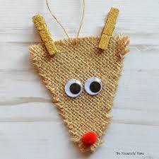 burlap reindeer ornament the resourceful