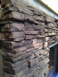 stacked stone fireplace update old renovations inc