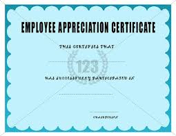 free printable employee recognition certificates free printable