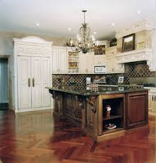 kitchen with dark wood floor impressive home design