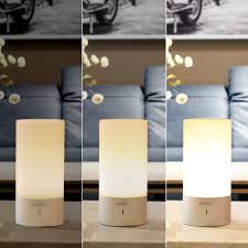 aukey table lamp touch sensor bedside lamp dimmable warm white