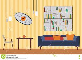 Flat Interior Design Furniture Set Flat Vector Illustration For You Interior Design