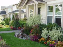 Garden And Home Decor House Front Landscaping Ideas Bright Design Marvelous Small