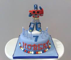 optimus prime cake topper optimus prime birthday cake sweet bakes flickr