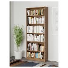 billy bookcase oak veneer 80x28x202 cm ikea