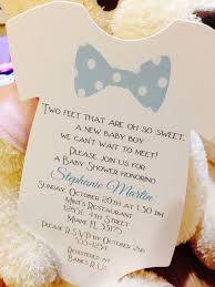 customized baby baby boy bow tie onesie baby shower invitation all wording