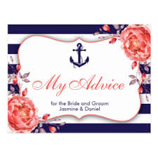 my advice for the and groom cards wedding advice cards zazzle