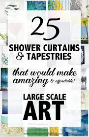 Artistic Shower Curtains Large Scale From An Source Shine Your Light