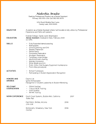 Objective For Dental Hygienist Resume 7 Dental Assistant Resume Objectives Fillin Resume