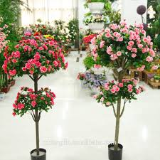 Tree For Home Decoration 2015 New Design Indoor Decorative Artificial Silk Flowering Trees