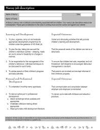 Caregiver Description For Resume Nanny Job Description Interview Questions For Nanny Jobs Best 20