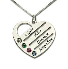 personalized family necklace personalized family necklace with 4 stones my pikara