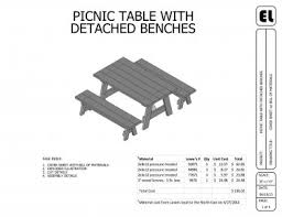 Diy Picnic Table Plans Free by Picnic Table And Benches Building Plans Blueprints Diy Do It