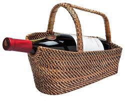 wine basket rattan nito wine bottle basket and decanter tropical wine