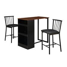 Rustic Pub Table Set 3 Piece Rustic Counter Height Pub Table Chairs Dining Room Kitchen