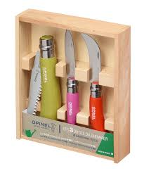 Opinel Kitchen Knives Colored Gardener Box Set Opinel