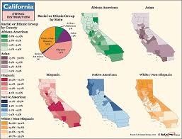 san jose ethnicity map california ethnic distributions map by maps from maps