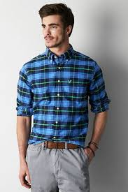 american eagle outfitters plaid button down shirt where to buy