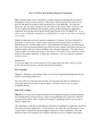 Resume Job Summary by Strong Resume Objective Statements Free Resume Example And