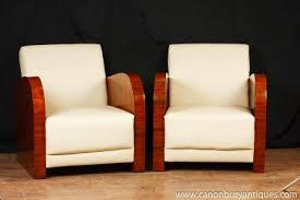 Art Deco Armchairs Canonbury Antiques Art Deco Club Chairs
