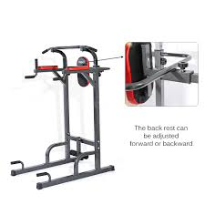 folding home fitness power tower dip station pull press chin up