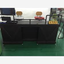 Industrial Style Reception Desk China Store Checkout Counter China Store Checkout Counter