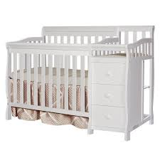 Convertible White Crib On Me 4 In 1 Mini Convertible Crib And Changer White