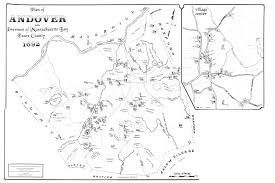 Map Of Massachusetts by Map Of Andover In 1692