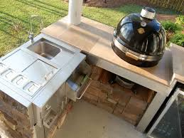 best outdoor kitchen countertops for small backyard with faucet