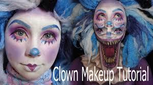 killer clown makeup halloween cute and scary clown makeup tutorial youtube