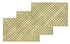 woodbury timber square trellis panel h 1 8m w 1 2 m pack of 3