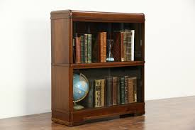 Vintage Bookcase With Glass Doors Sold Deco Waterfall 1940 Vintage Bookcase Sliding Glass