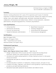 Icu Nurse Resume Example by Bls Certification On Resume Resume For Your Job Application