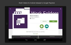 microsoft access for android work folders for android released storage at microsoft