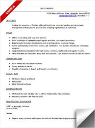 Resume Sles For Cashier Cashier Experience Resume Army Franklinfire Co