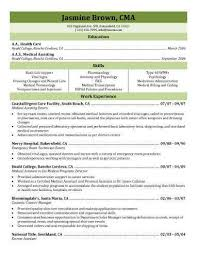 Medical Assistant Resume Template Free Cma Resume Sample Medical Assistant Resume Sample Writing Guide