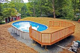 pool backyard ideas with above ground pools cabin basement